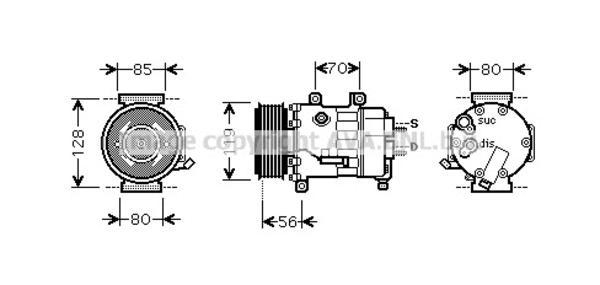 Compresseur pour CITROËN C4 Picasso I 2.0 HDi 138 136cv