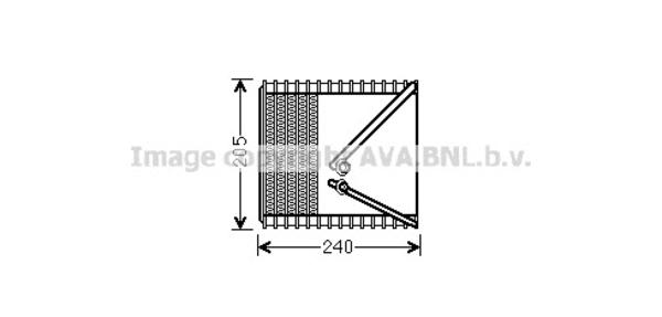Evaporateur pour FIAT PUNTO 1.3 JTD 16V 70cv (188_) (51kw