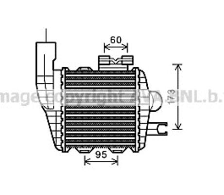 Intercooler radiateur de turbo pour HYUNDAI TUCSON 2.0