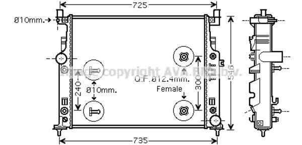 Radiateur de refroidissement pour MERCEDES-BENZ CLASSE M