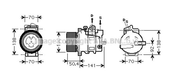 Compresseur pour MERCEDES-BENZ CLASSE M ML 320 CDI 4-matic