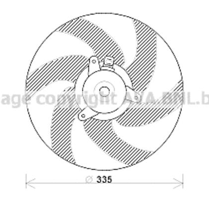 Ventilateur de radiateur pour CITROËN XSARA PICASSO 2.0