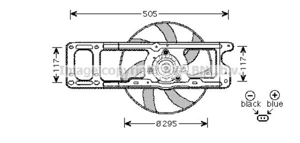 Ventilateur de radiateur pour RENAULT KANGOO 1.4 75cv (KC0