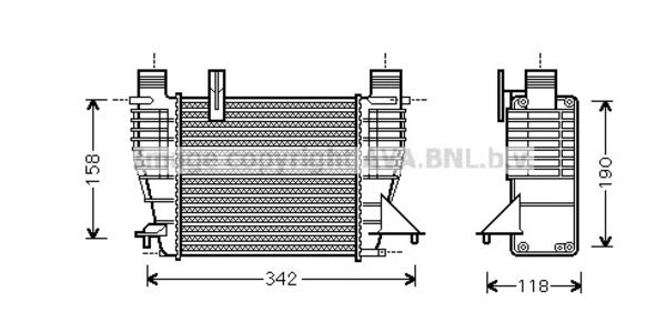 Intercooler radiateur de turbo pour RENAULT CLIO III 1.5