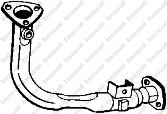 Tube d'echappement pour CITROËN SAXO 1.1 X,SX 60cv (S0, S1