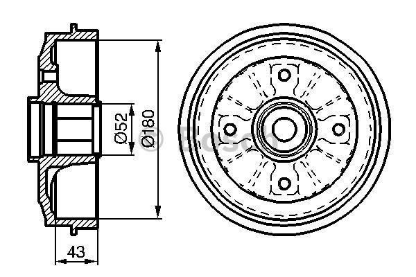 Kit tambours avec roulements pour PEUGEOT 205 II 1.7