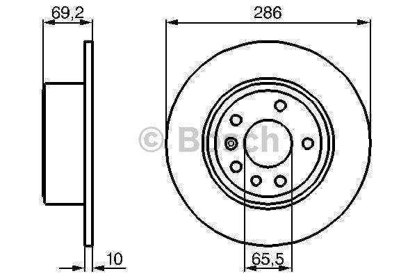 Disque de frein arriere pour SAAB 9-3 2.2 TiD 125cv (YS3D