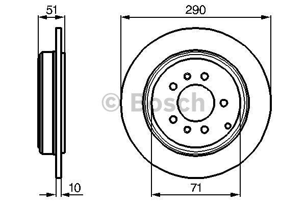 Disque de frein arriere pour PEUGEOT 607 (9D, 9U) 2.2 HDI
