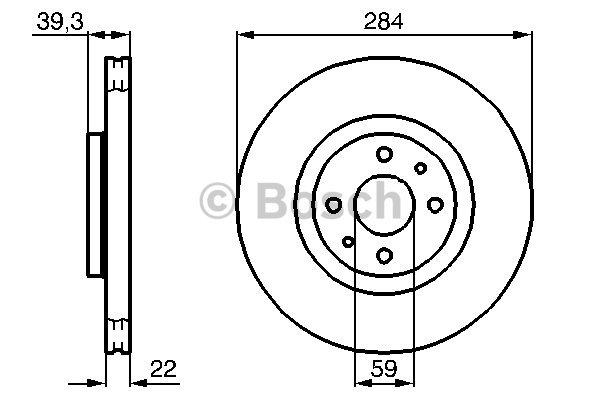 Disque de frein avant pour FIAT MULTIPLA 1.9 JTD 120cv