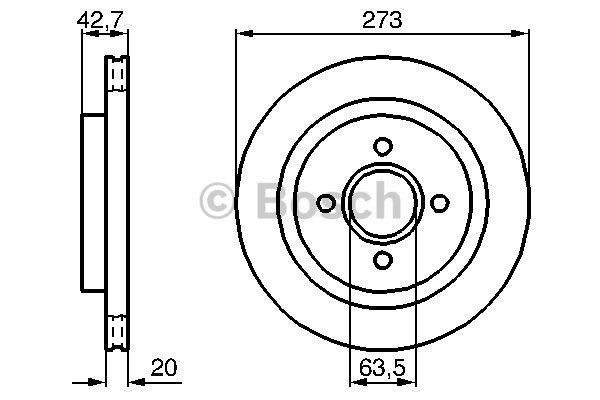 Disque de frein arriere pour FORD ESCORT VI RS Cosworth