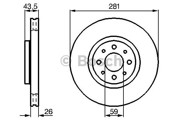 Disque de frein avant pour FIAT BRAVO II 1.9 D Multijet