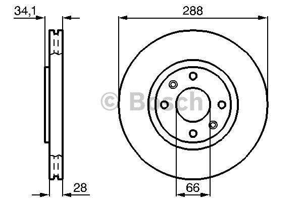 Disque de frein avant pour CITROËN XANTIA (X2) 2.0 HDI 109