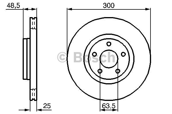 Disque de frein avant pour FORD FOCUS C-MAX 1.8 TDCi 115cv