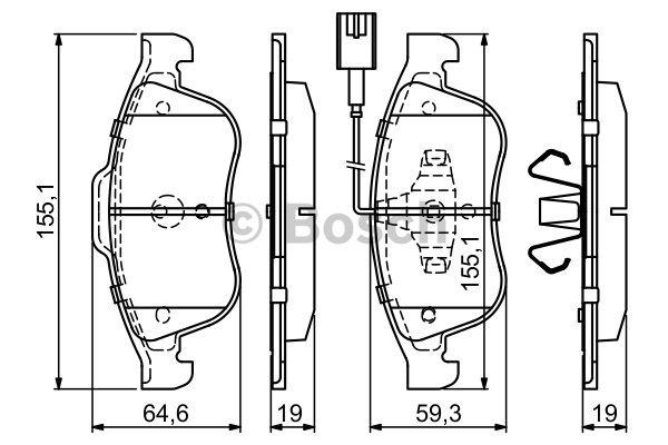 Plaquettes de frein avant pour ALFA ROMEO GIULIETTA 1.6