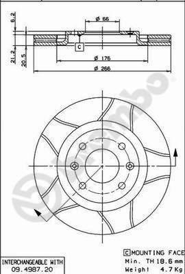 Disque de frein avant pour CITROËN XANTIA (X2) 2.0 HDI 90