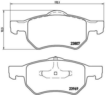 Plaquettes de frein avant pour CHRYSLER VOYAGER IV 2.8 CRD