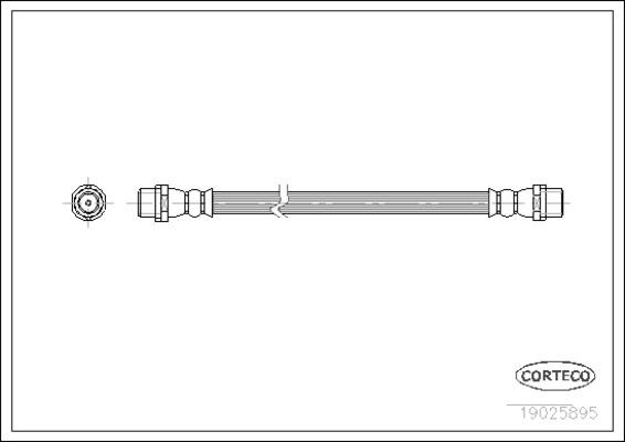 Flexible de frein pour AUDI A4 1.9 TDI 130cv (8E2, B6