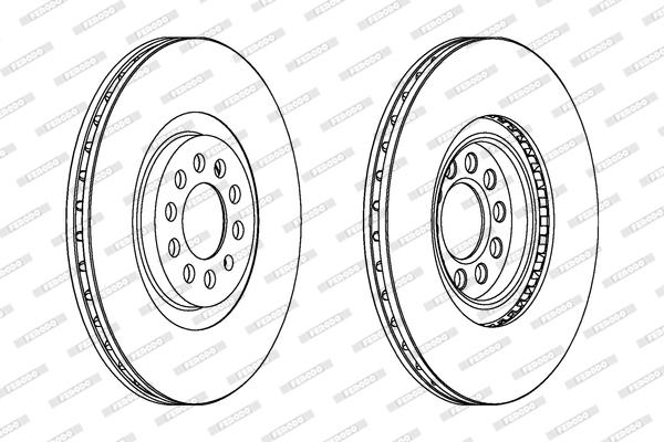 Disque de frein avant pour AUDI A3 S3 quattro 210cv (8L1