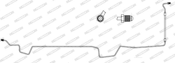 Flexible de frein pour RENAULT SCÉNIC II 1.5 dCi 106cv