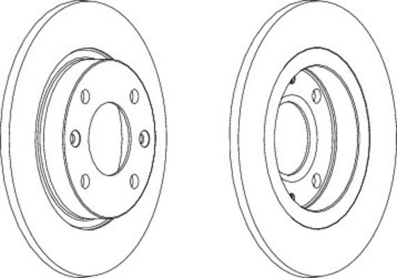 Disque de frein avant pour CITROËN SAXO 1.5 D 54cv (S0, S1