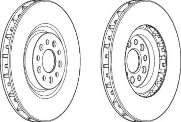 Disque de frein avant pour PEUGEOT 807 2.0 HDi 163cv (E