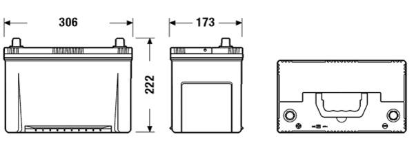 Batterie pour NISSAN TERRANO II (R20) 2.7 TDi 4WD 125cv