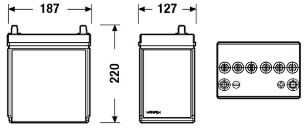 Batterie pour DAIHATSU CUORE VI 1.0 58cv (L251, L250