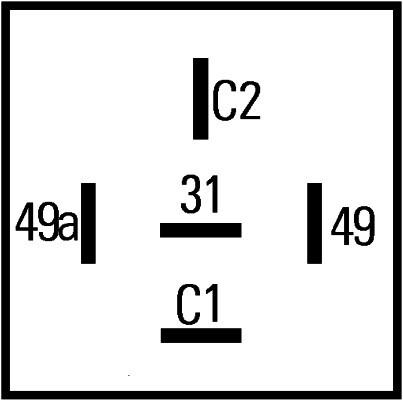 Centrale clignotante pour RENAULT TWINGO I 1.2 55cv (C06