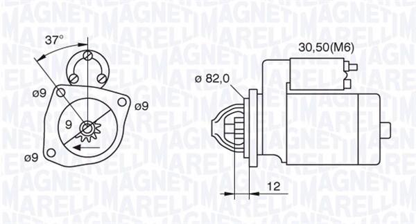 Demarreur pour FIAT DOBLO Cargo 1.9 D 63cv (223
