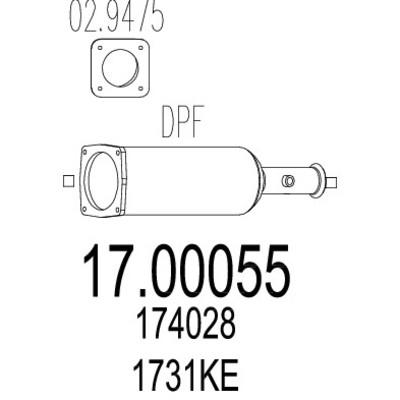 Filtre a particules pour PEUGEOT 407 SW 2.0 HDi 135 136cv
