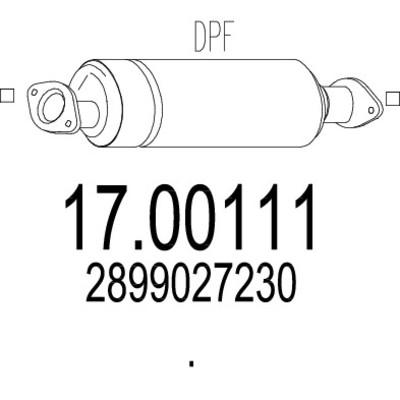 Filtre a particules pour HYUNDAI SANTA FÉ II 2.2 CRDi GLS