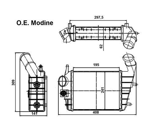 Intercooler radiateur de turbo pour ALFA ROMEO 156