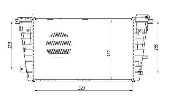 Intercooler radiateur de turbo pour OPEL ASTRA H GTC 1.9