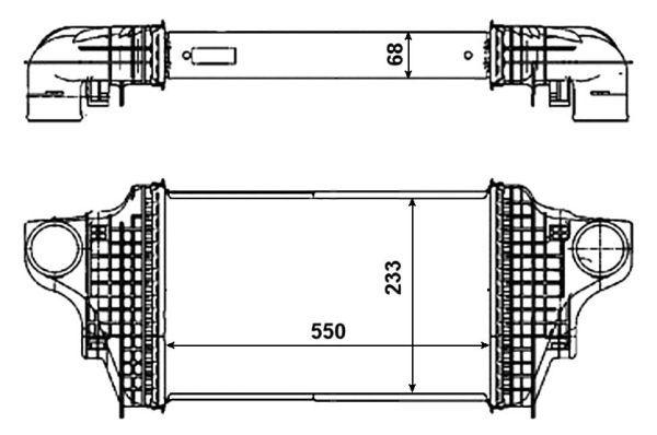 Intercooler radiateur de turbo pour MERCEDES-BENZ CLASSE M