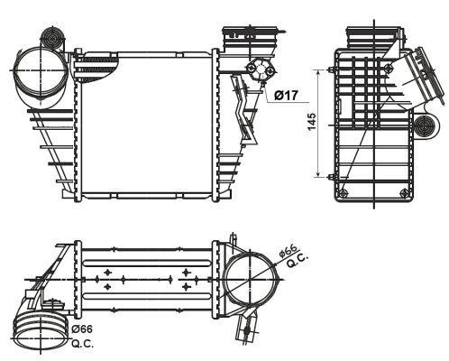 Intercooler radiateur de turbo pour AUDI A3 (8L1) 1.9 TDI