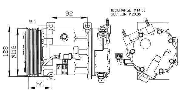Compresseur pour CITROËN XSARA PICASSO 2.0 HDi 90cv (N68