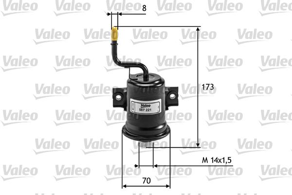 Filtre a carburant pour TOYOTA COROLLA Verso 1.8 129cv