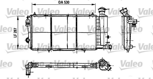 Radiateur de refroidissement pour CITROËN C15 1.8 D 60cv