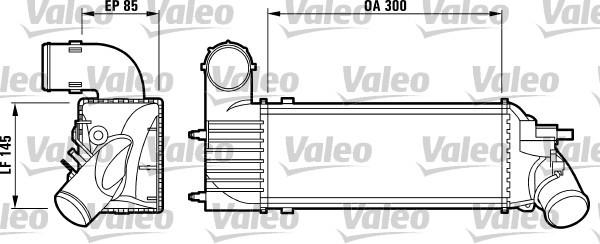 Intercooler radiateur de turbo pour PEUGEOT 607 (9D, 9U) 2
