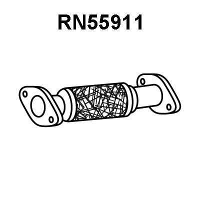 Tube d'echappement pour RENAULT VEL SATIS 2.2 dCi 150cv