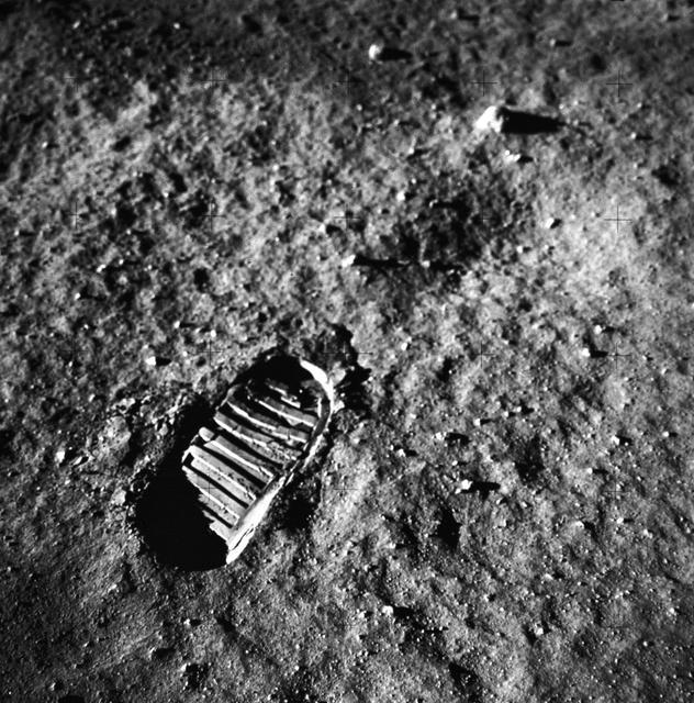Empreinte astronaute sur la Lune