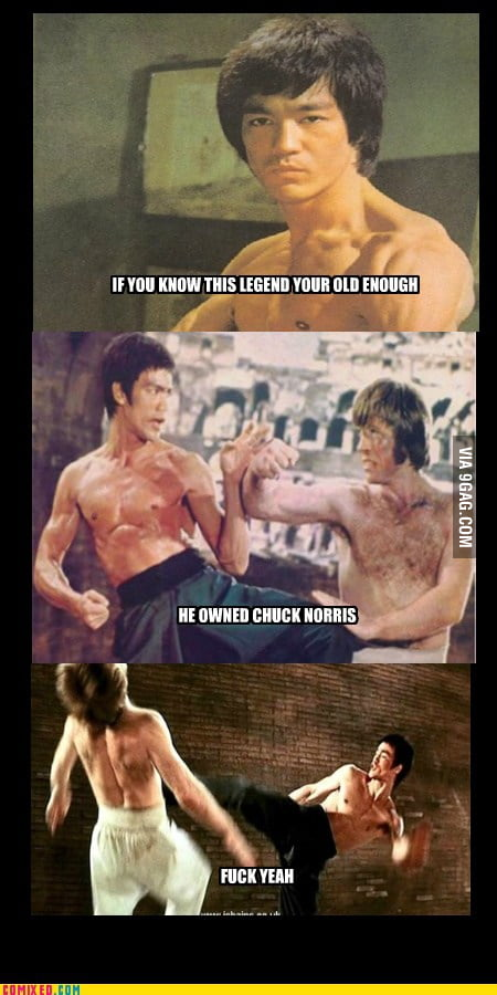 Funny Anime Girl Wallpaper Only One Person Can Beat Chuck Norris Bruce Lee F K Yeah