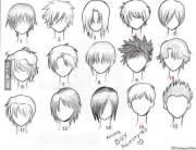 common anime guy hairstyle - 9gag