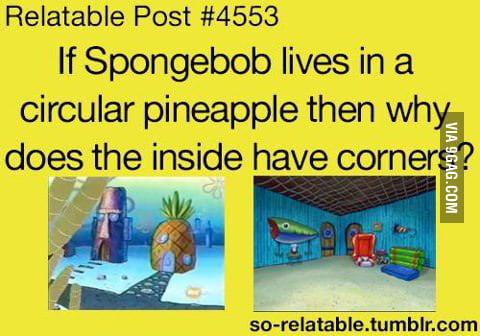 Be A Pineapple Quote Wallpaper Cartoon Logic Spongebob 9gag