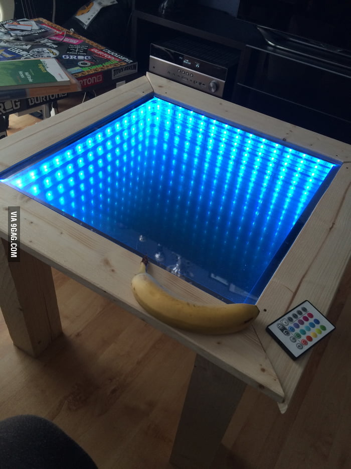 Saw a post about an infinity table and made my own  9GAG