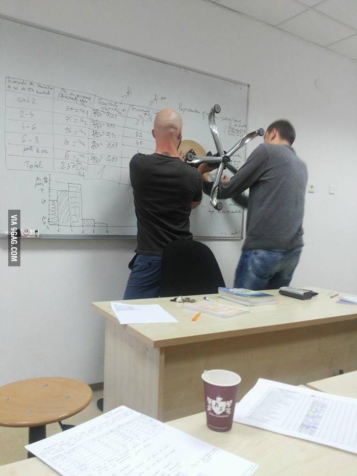 the teacher said that
