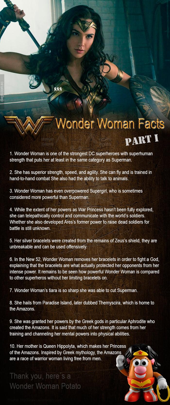 10 wonder woman facts