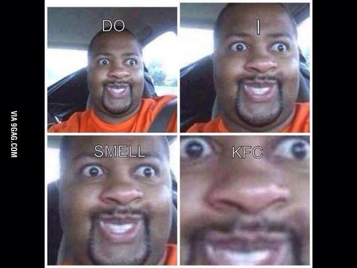 black guy smells kfc
