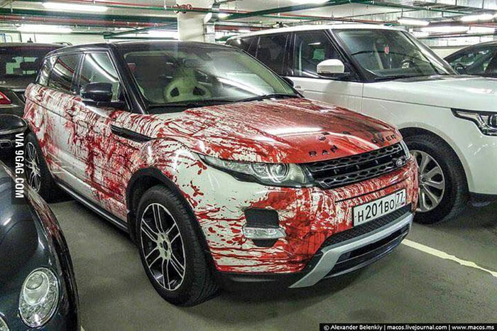 Bloody car paint design anybody can do   9GAG