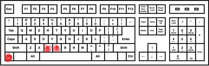 real keyboard heatmap for